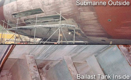 Repairing Corrosion in Submarine Ballast Tanks